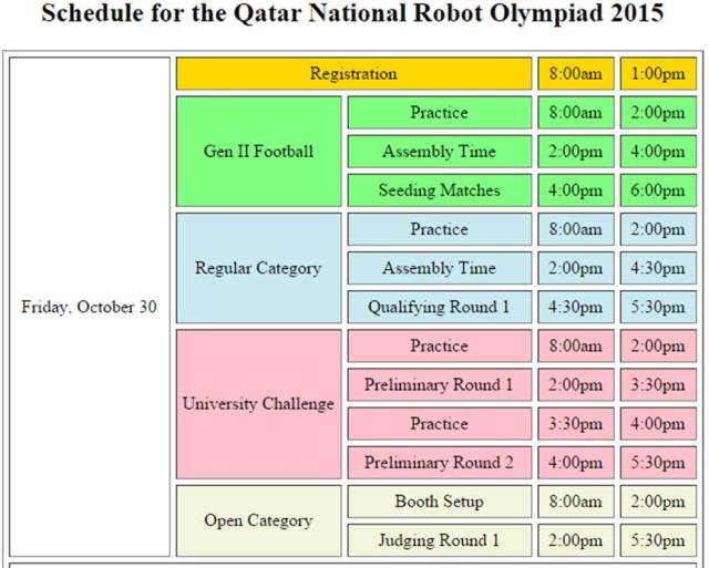 scheduleNROqatar_1stday